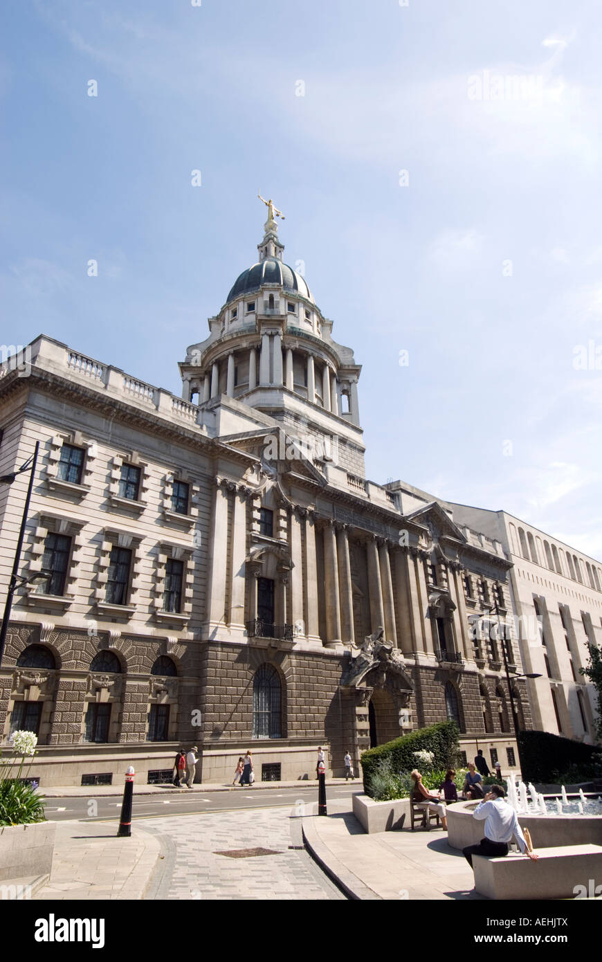 The Old Bailey central criminal court in the City of London UK - Stock Image