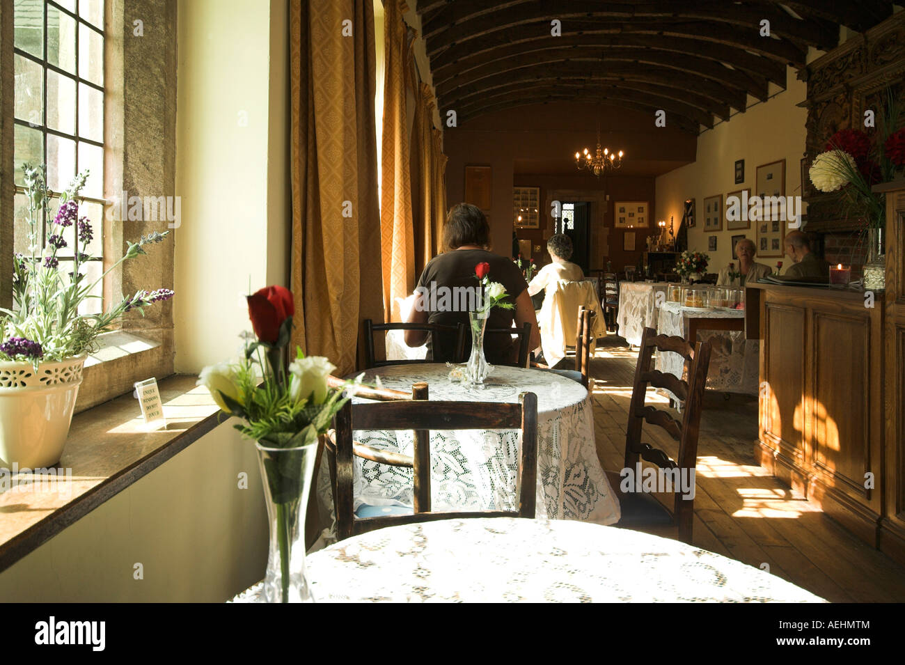 Tabley House tea rooms, Knutsford, Cheshire, UK - Stock Image