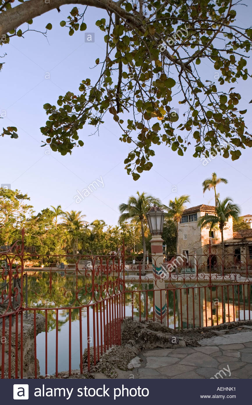 Venetian Pool in Coral Gables Miami - Stock Image