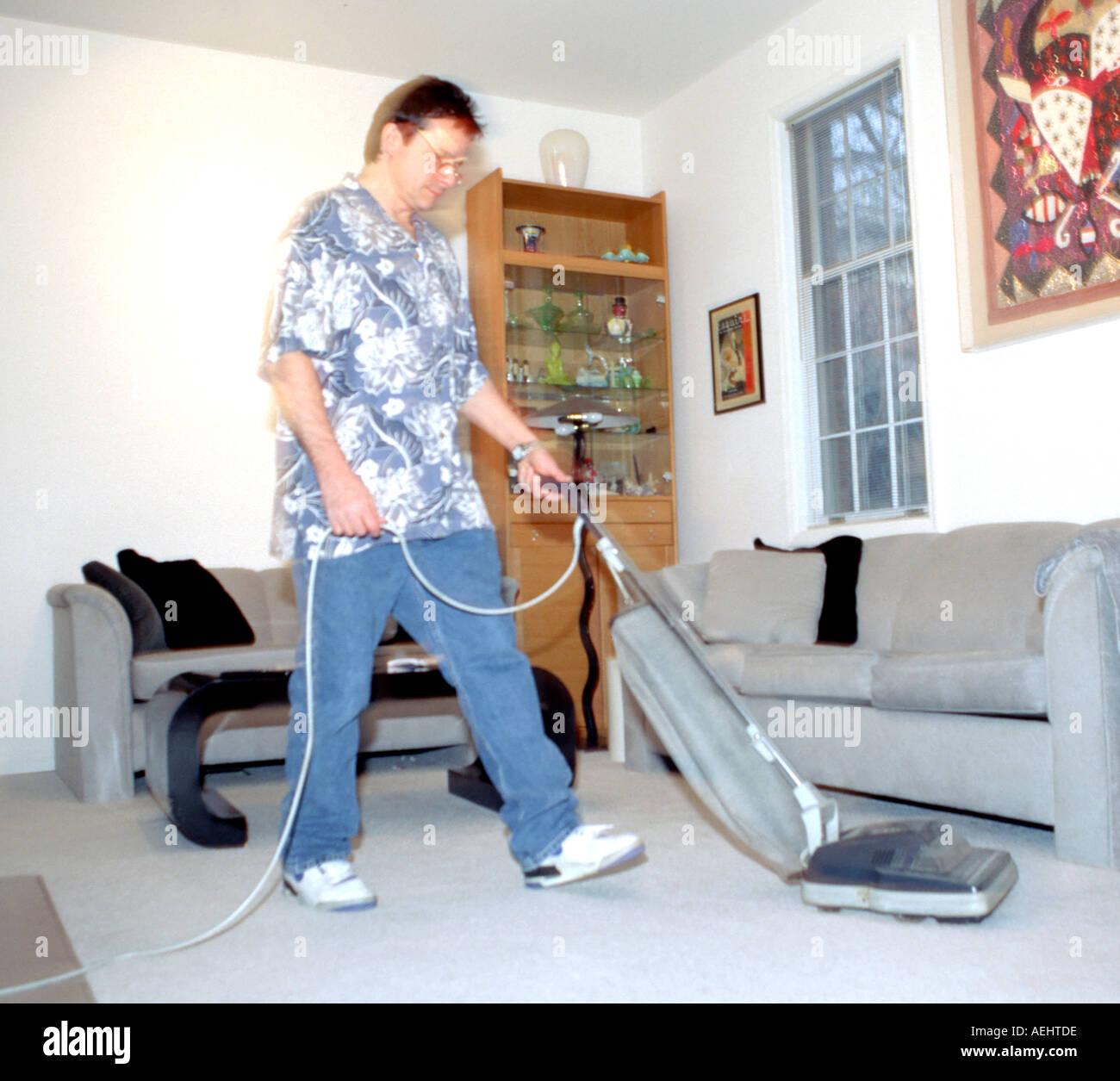 amusing nice living room stock photography image 18909472   Man vacuuming living room Stock Photo: 4469981 - Alamy
