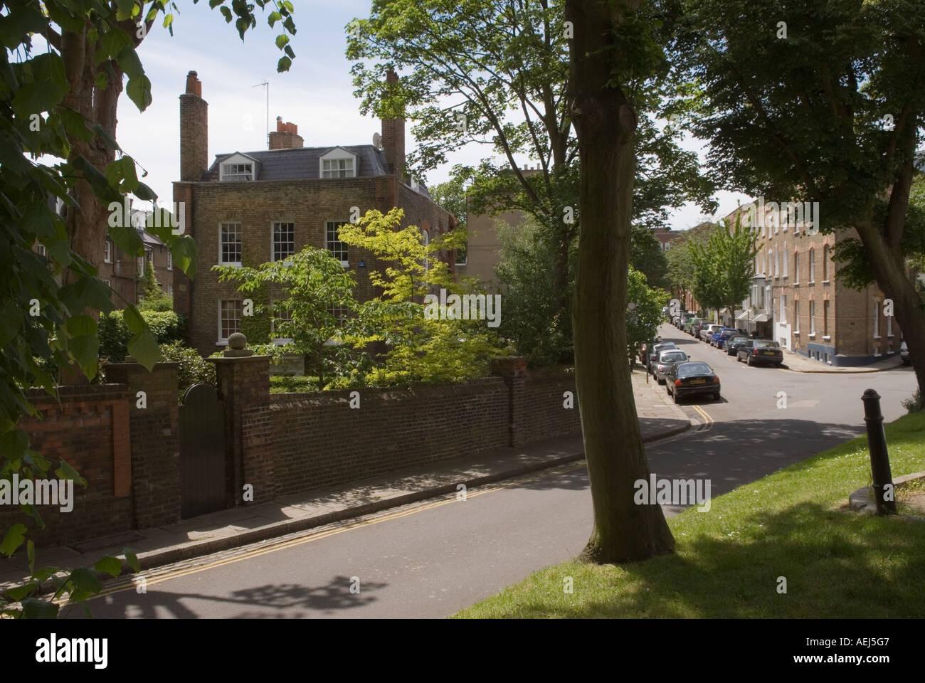 Flask walk leading to Gardnor Road Hampstead village London NW3 England HOMER SYKES - Stock Image