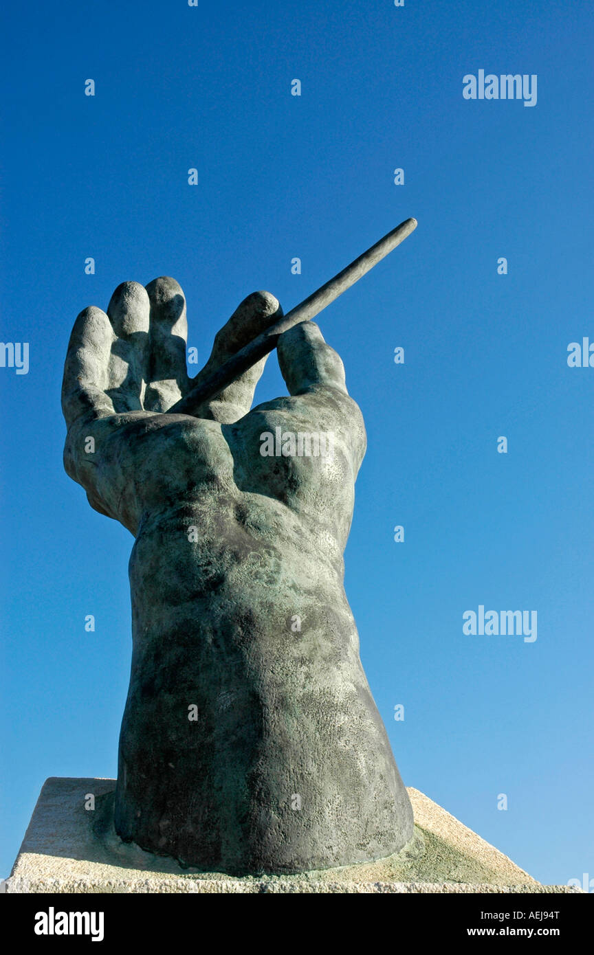Conductor's baton, music square, Finestrat, Costa Blanca, Spain - Stock Image
