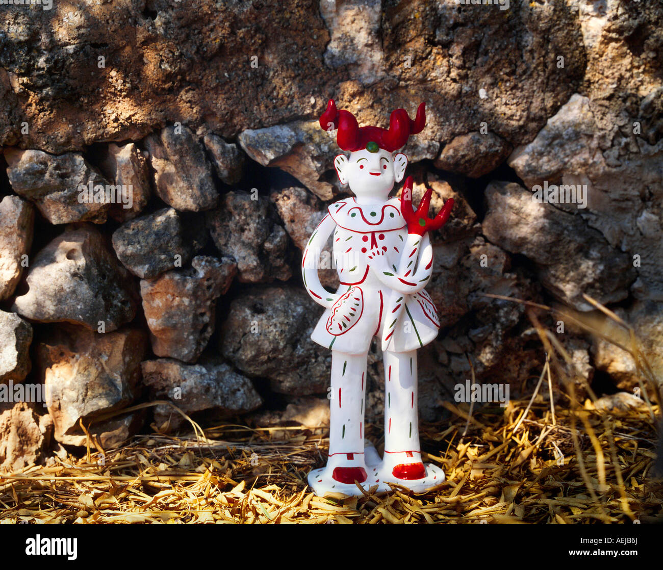 Siurell. Tipical earthen statuette from Mallorca / Spain - Stock Image