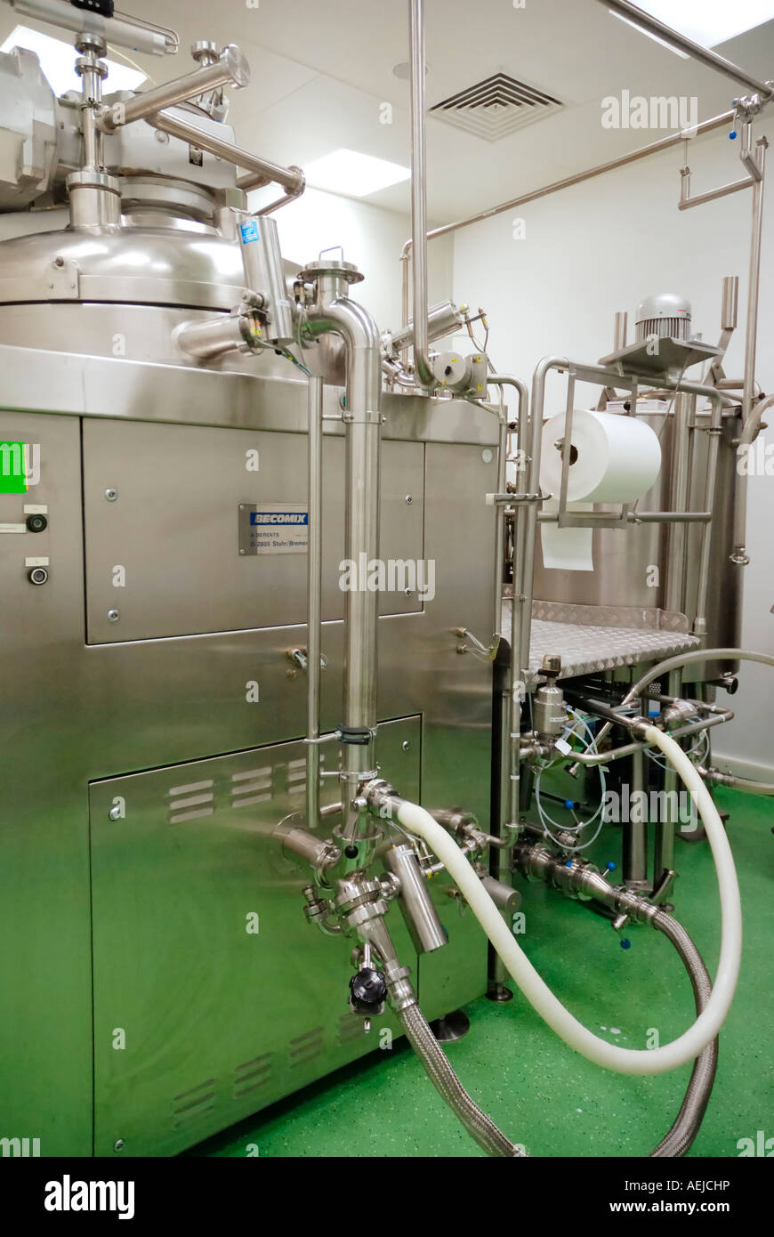 Blender Becomix RW 1200 for the manufacturing of semisolid and liquid pharmaceutics and cosmetical products Stock Photo