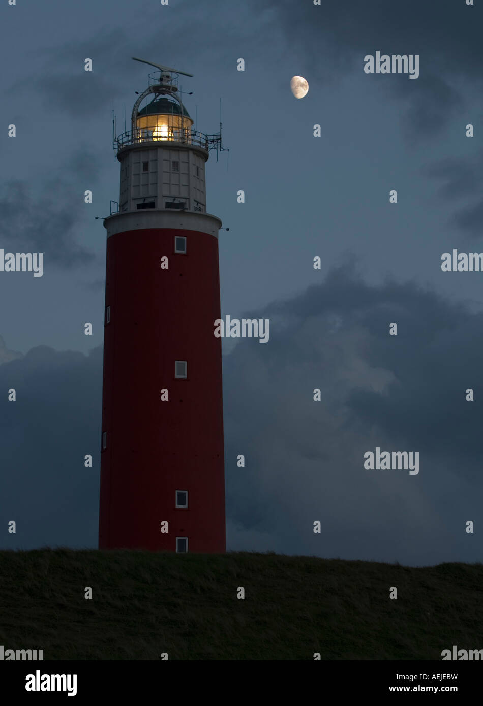 Lighthouse on Texel, North Holland, Netherlands - Stock Image