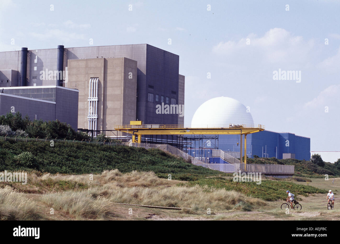 Sizewell A and B nuclear power stations, Sizewell near Lieston, Suffolk, UK. - Stock Image