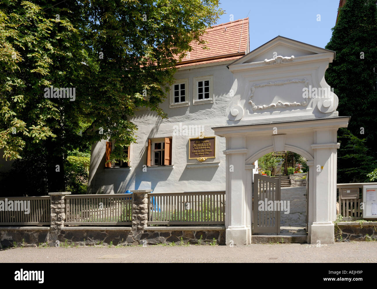 Schiller house, where he has written 'Lied an die Freude', Leipzig, Saxony, Germany - Stock Image