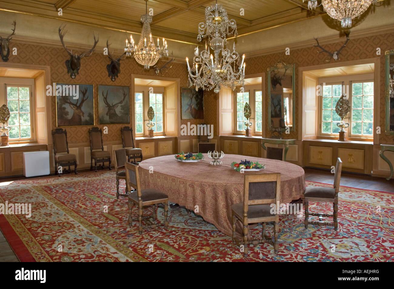 historical hunting lodge kranichstein darmstadt hesse germany stock photo 13697763 alamy. Black Bedroom Furniture Sets. Home Design Ideas