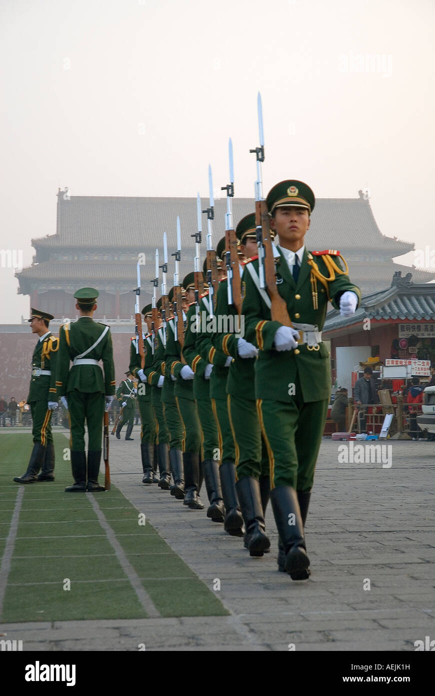 Military parade, Beijing, People's Republic of China Stock Photo