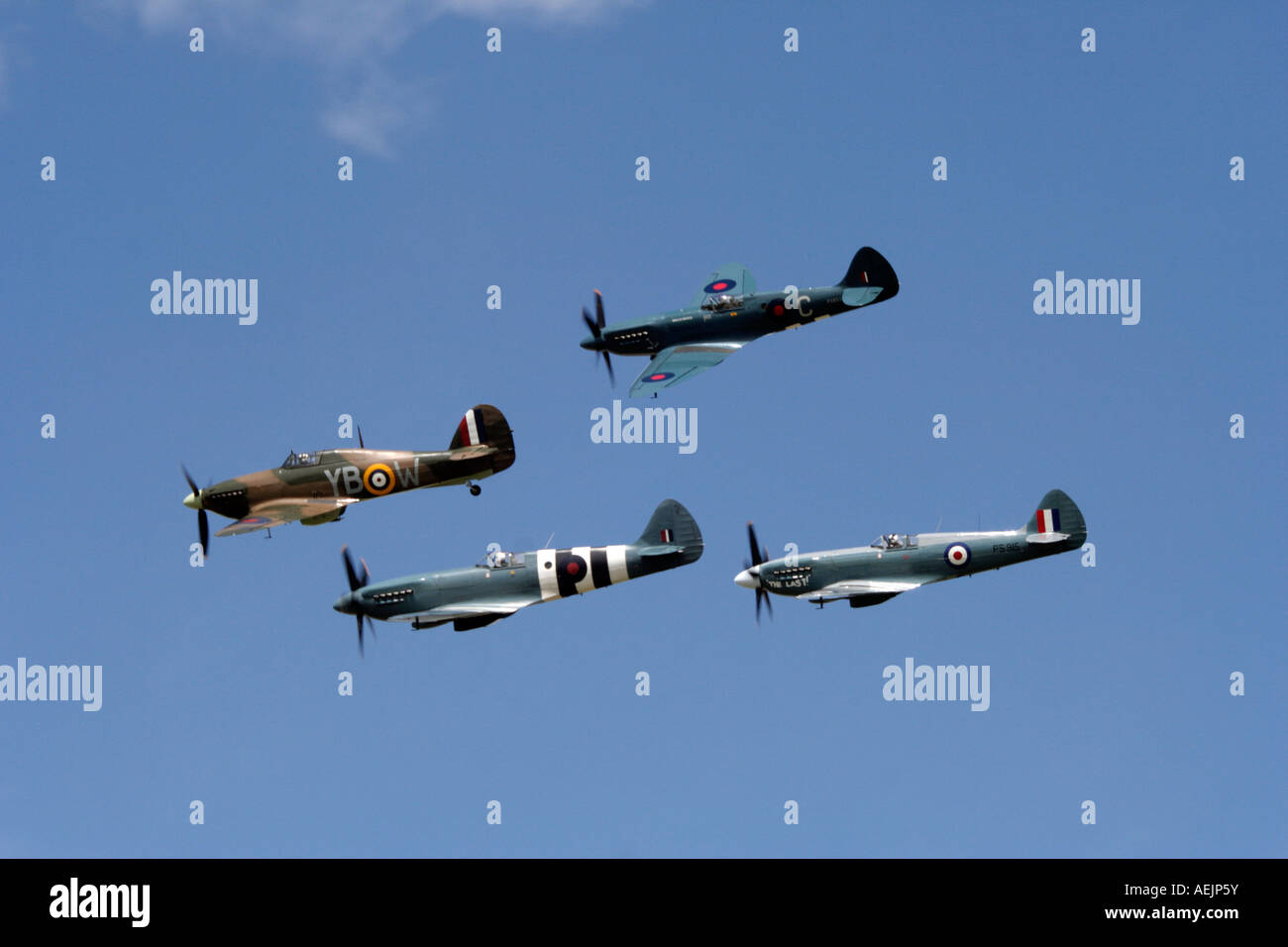 Spitfires & Hurricanes - Stock Image