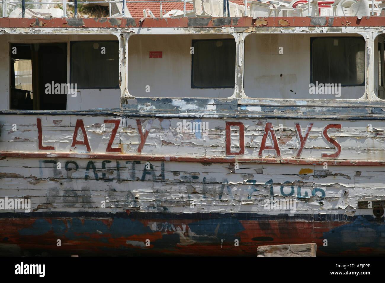 """Shipwreck """"Lazy Days"""" Stock Photo"""