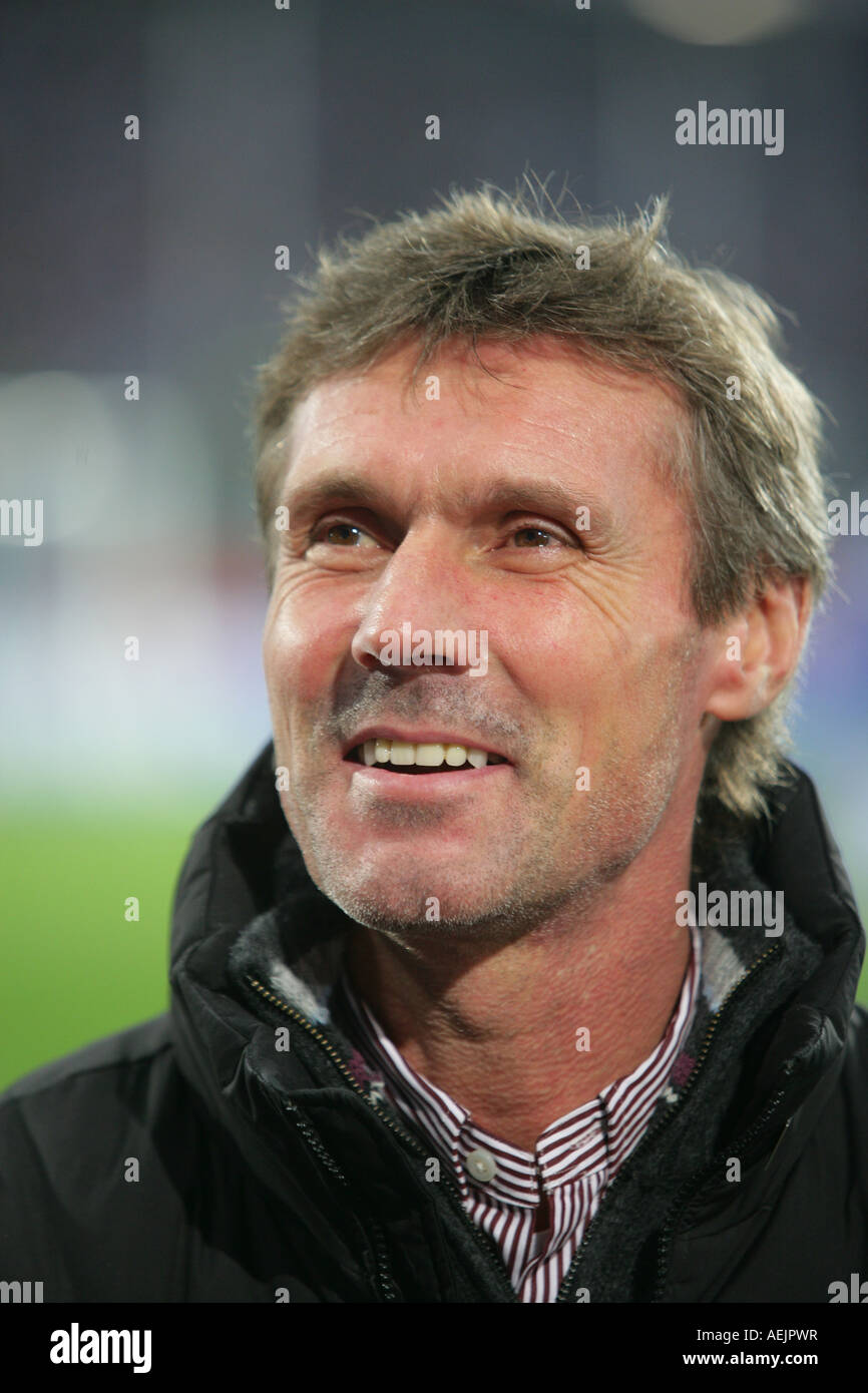 Soccer Coach Rudi Bommer, Trainer from MSV Duisburg - Stock Image