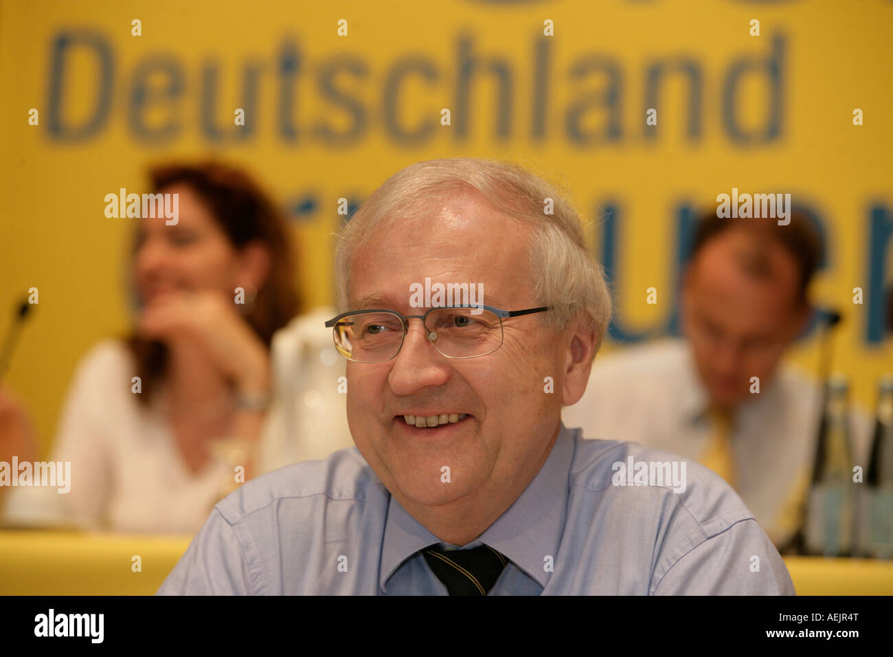 Rainer Bruederle, chairman of the liberal democrat party during a party congress, Germany - Stock Image