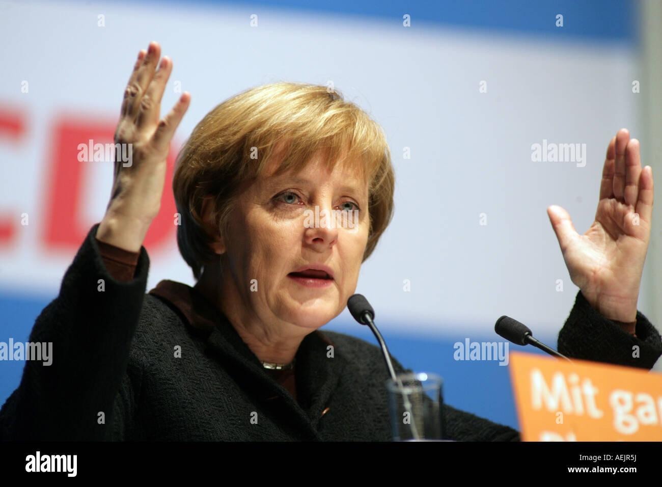 Federal Chancellor Angela Merkel (CDU), Germany - Stock Image