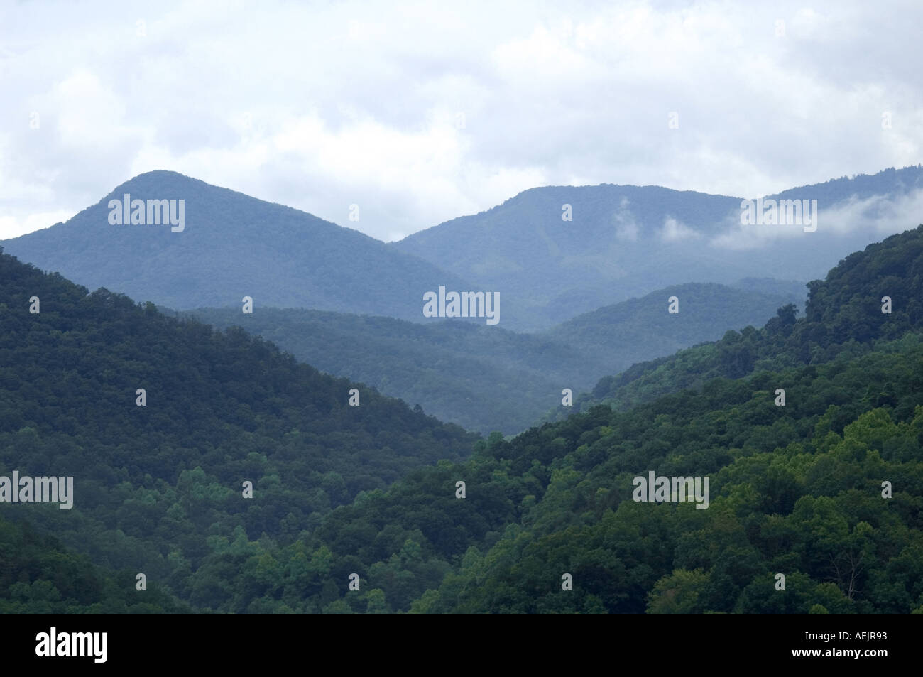 Gatlinburg Gateway to the Great Smoky Mountains National Park Tennessee Stock Photo