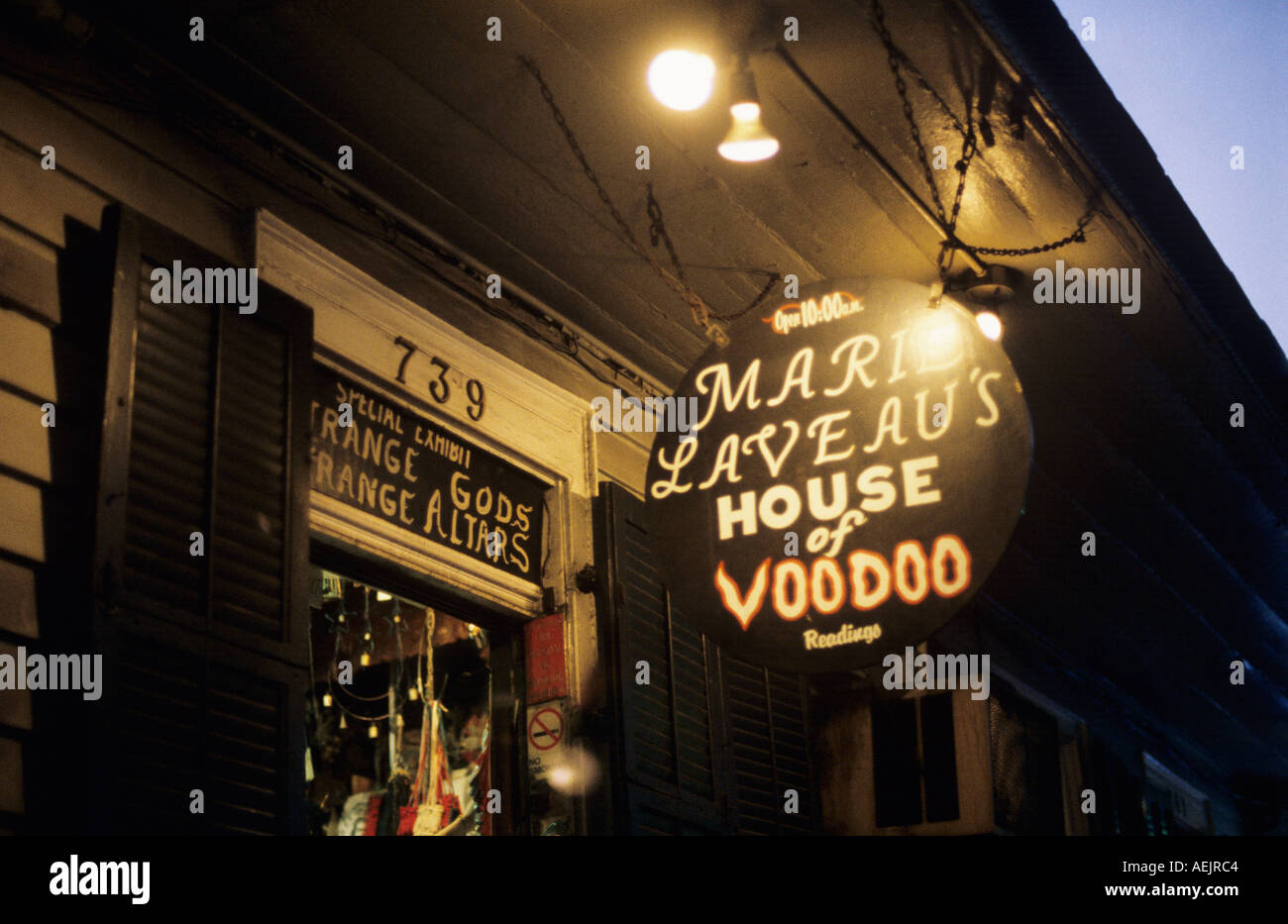 Marie Laveau House of Voodoo French Quarter New Orleans USA - Stock Image