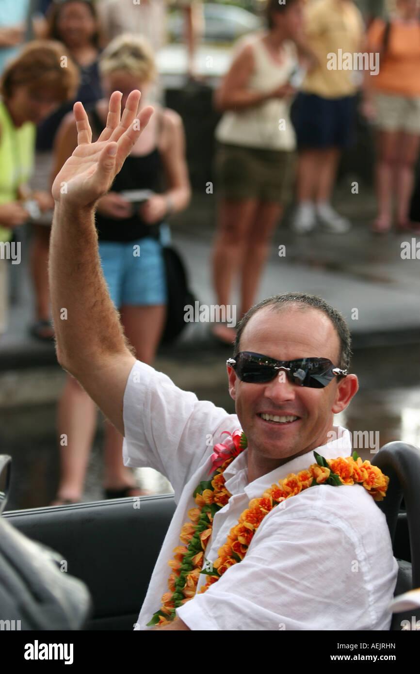 Triathlet Greg Welch - Stock Image