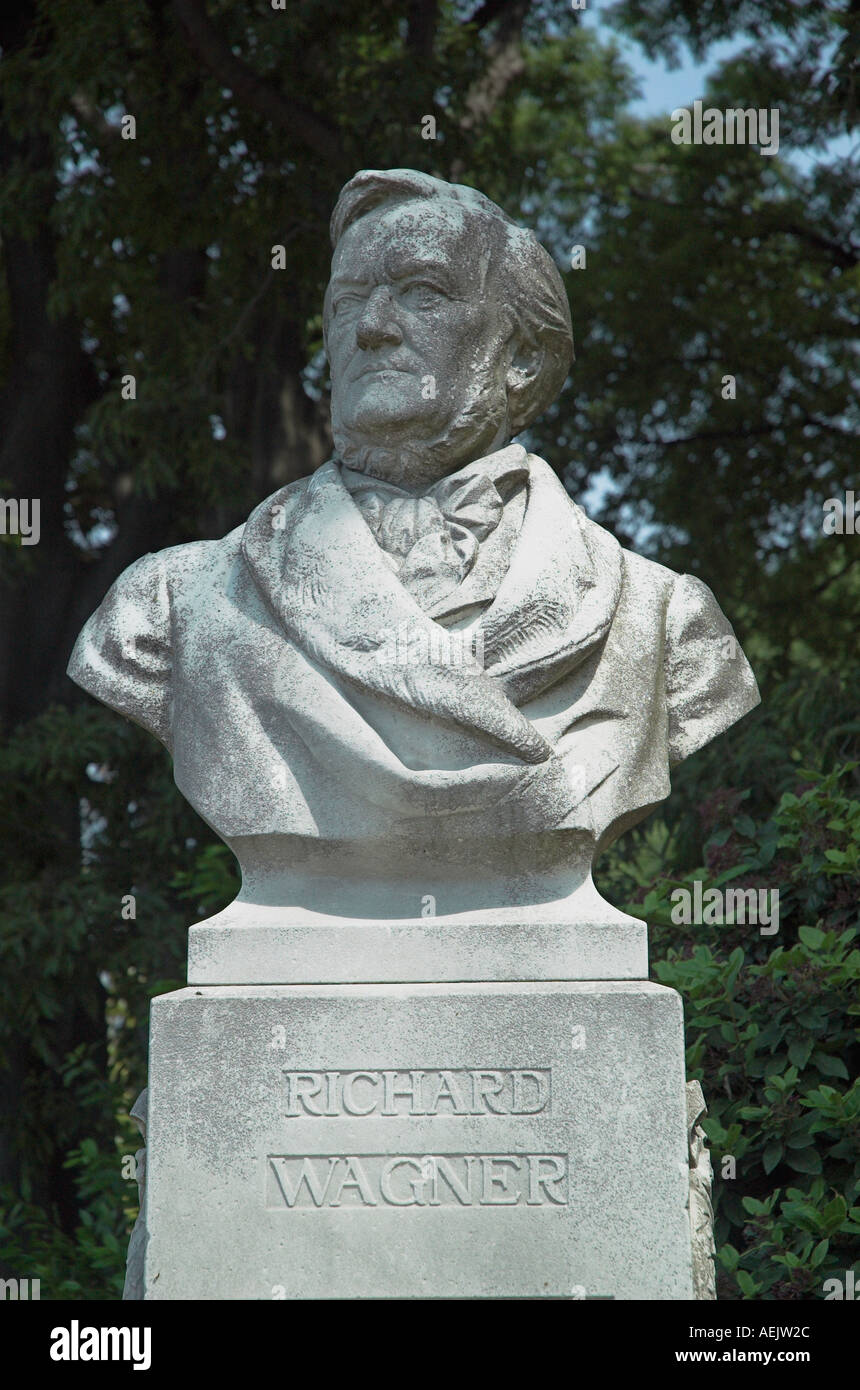 Richard Wagner statue in Vencie - Stock Image