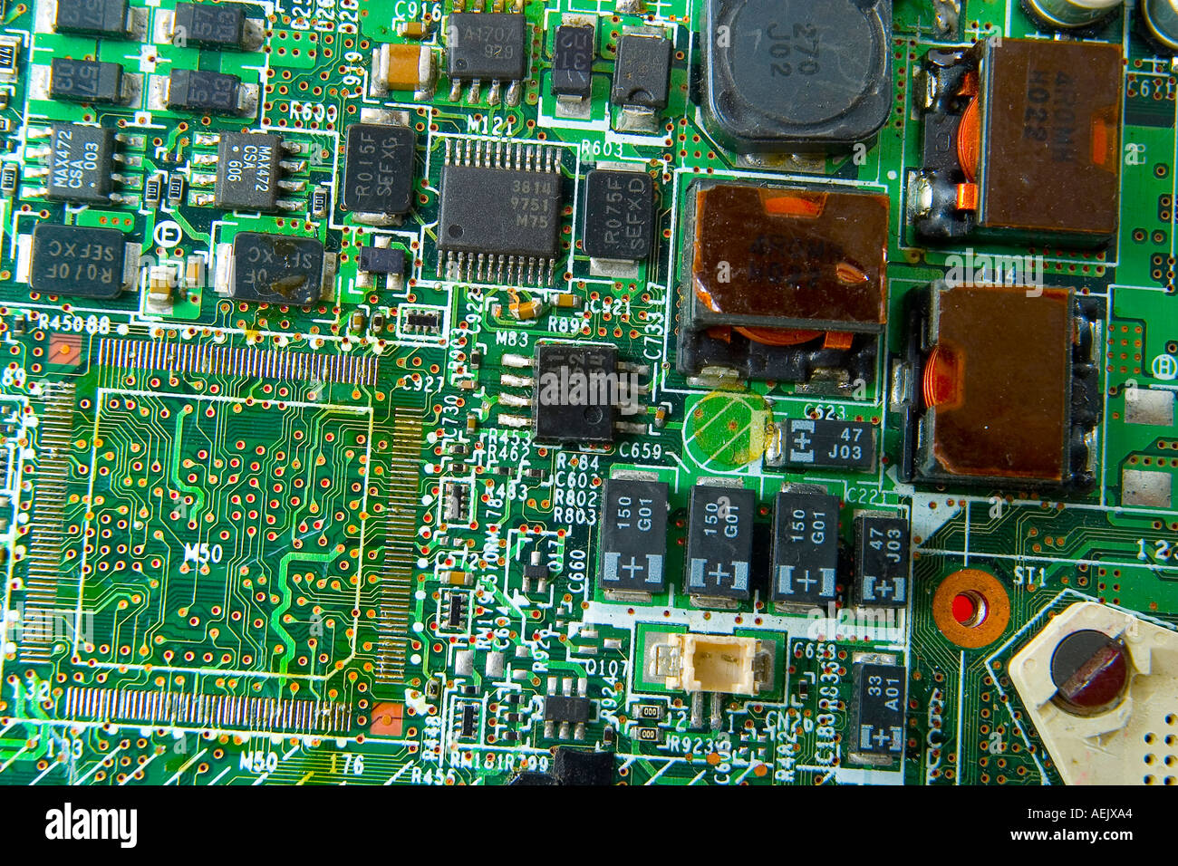 Silicon Chip Computer Board Stock Photo 4473507 Alamy Circuit