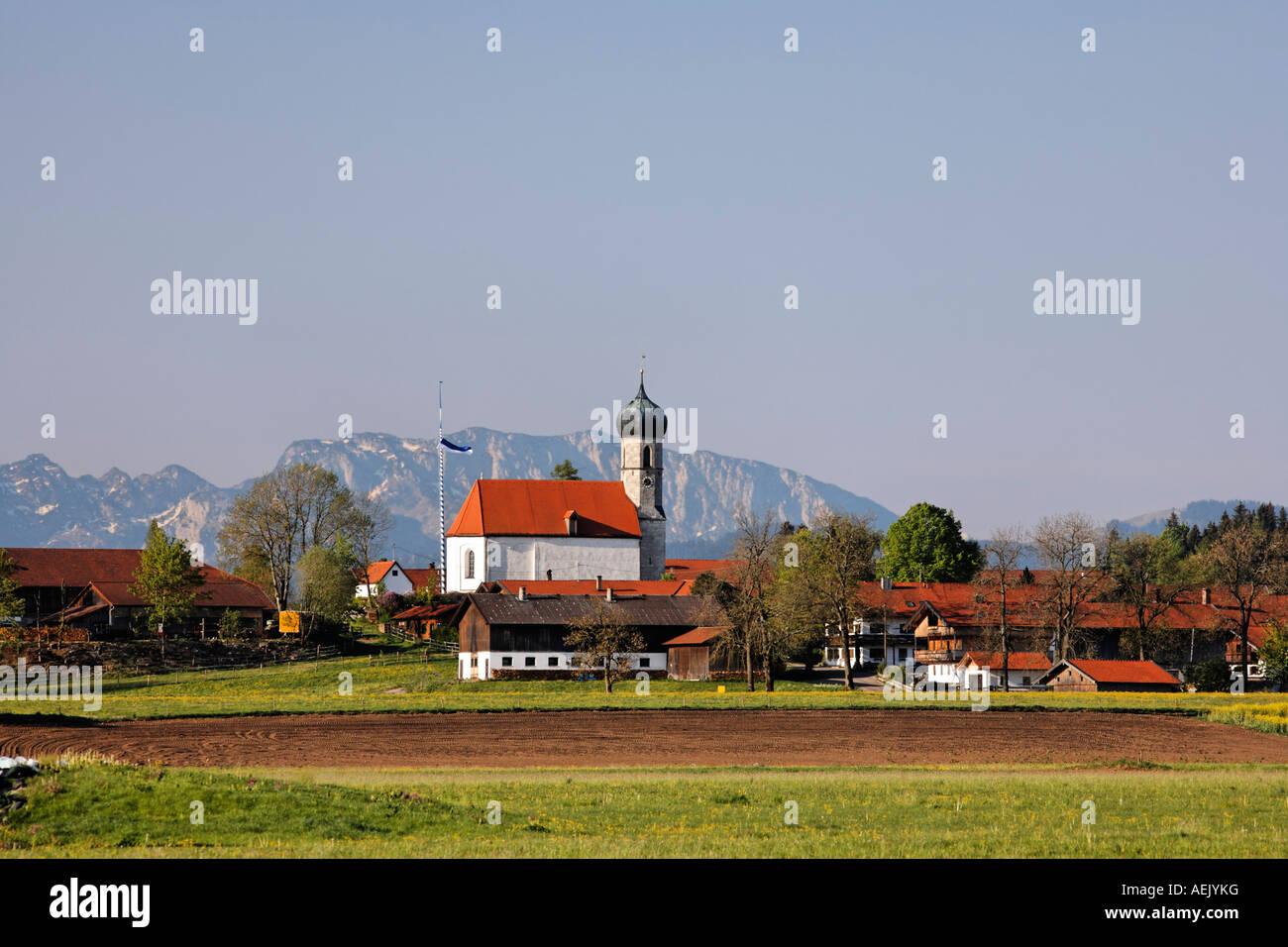 Dietramszell, Upper Bavaria, Germany - Stock Image