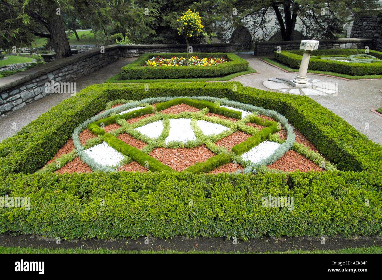 Shakespearean Gardens Stratford Ontario Canada - Stock Image