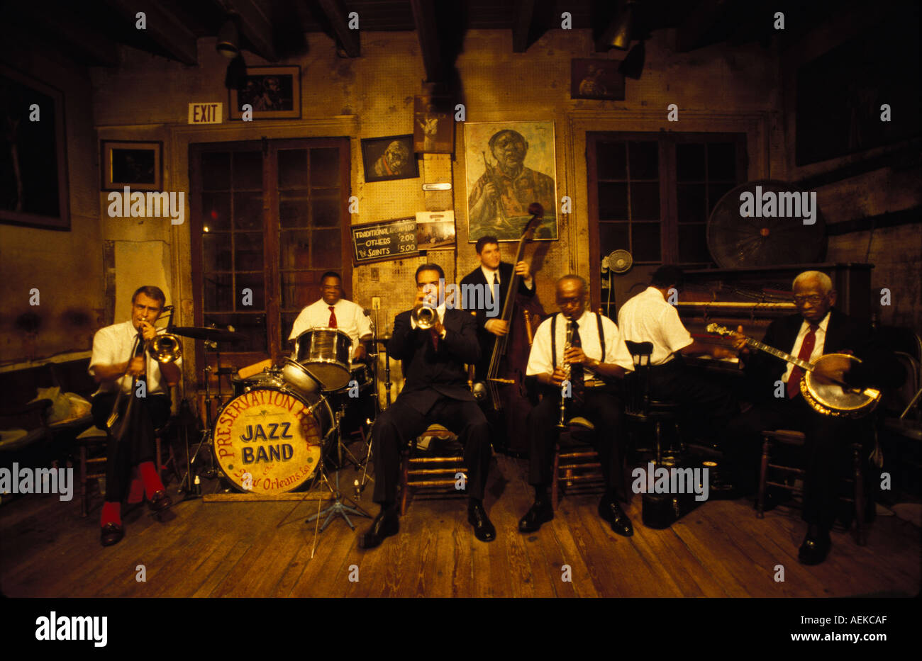 Preservaion Hall Jazz Band New Orleans - Stock Image