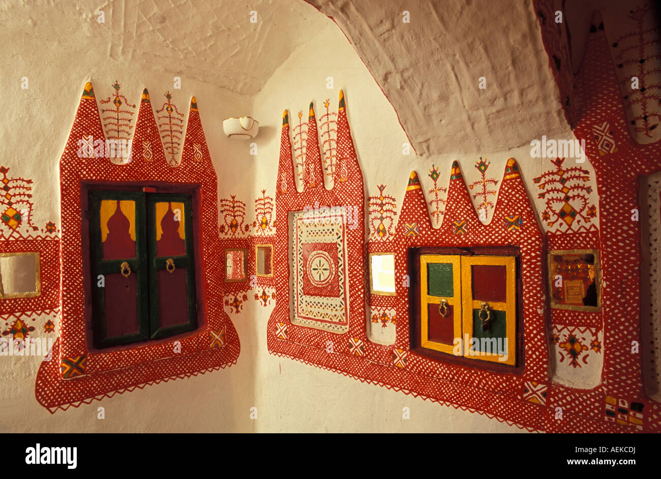 Libya Ghadames House with painted walls - Stock Image