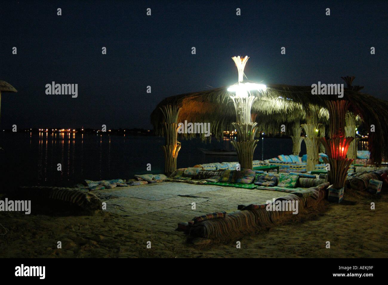 Nuweiba seacoast at night Red Sea. Sinai desert  Egypt - Stock Image