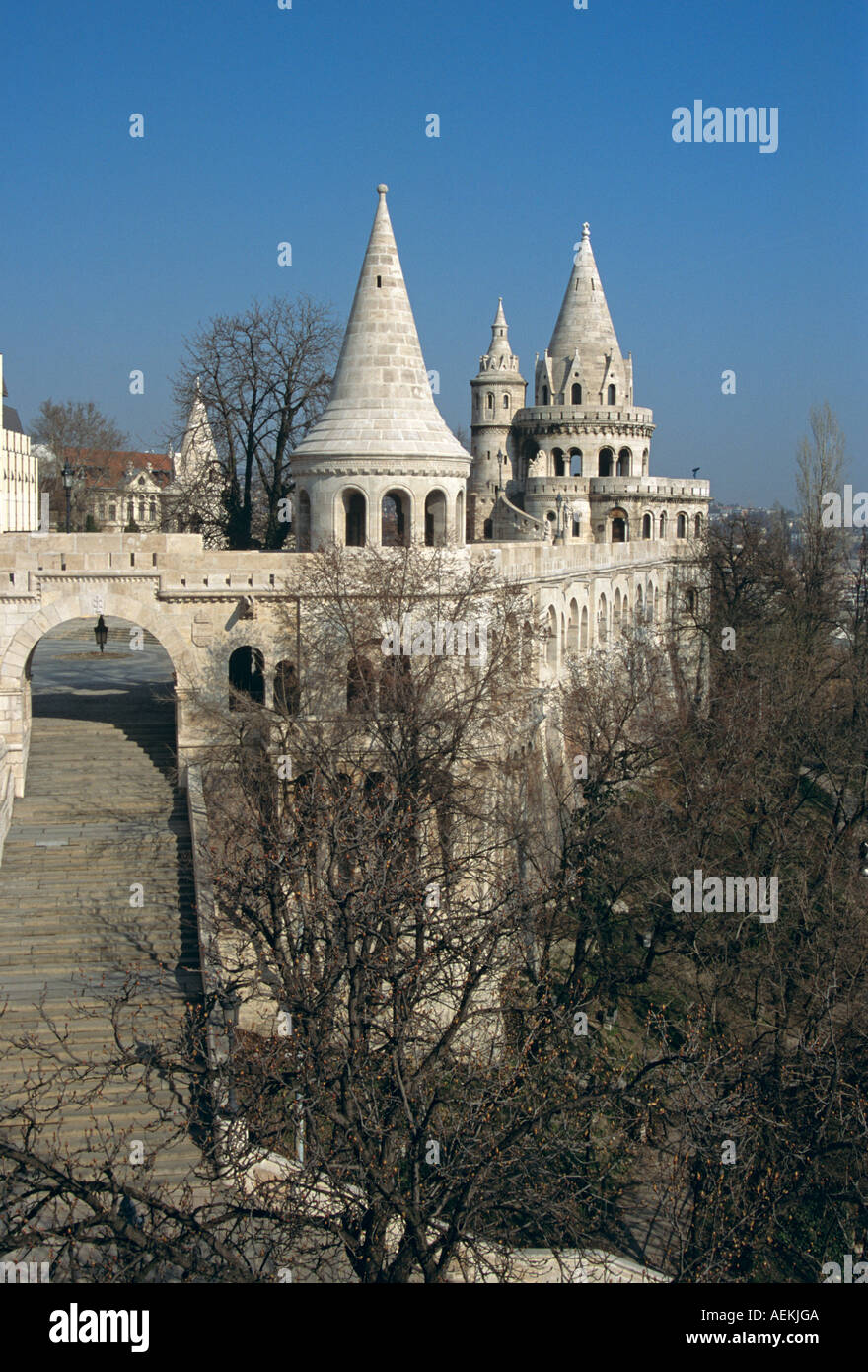 Fishermen's Bastion, Trinity Square, Castle Hill District, Budapest, Hungary Stock Photo