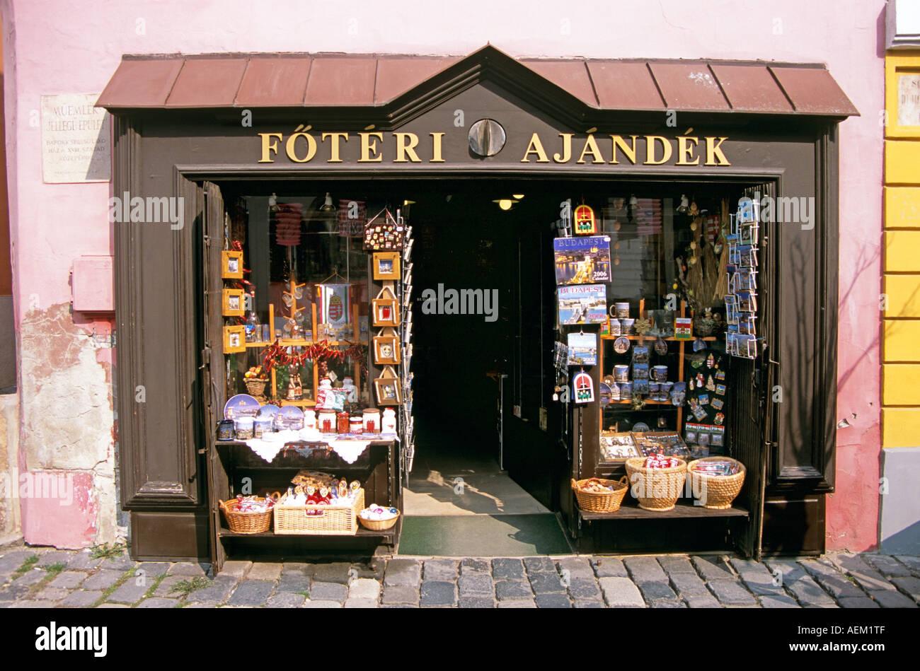 Foteri Ajandek gift and craft shop, Szentendre, Hungary - Stock Image