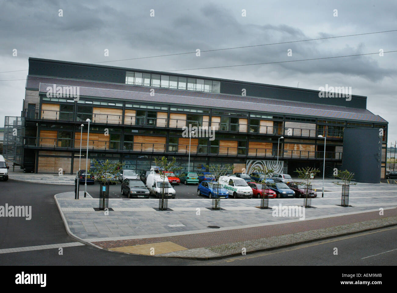 The Galeri Theatre Caernarfon North West Wales Stock Photo