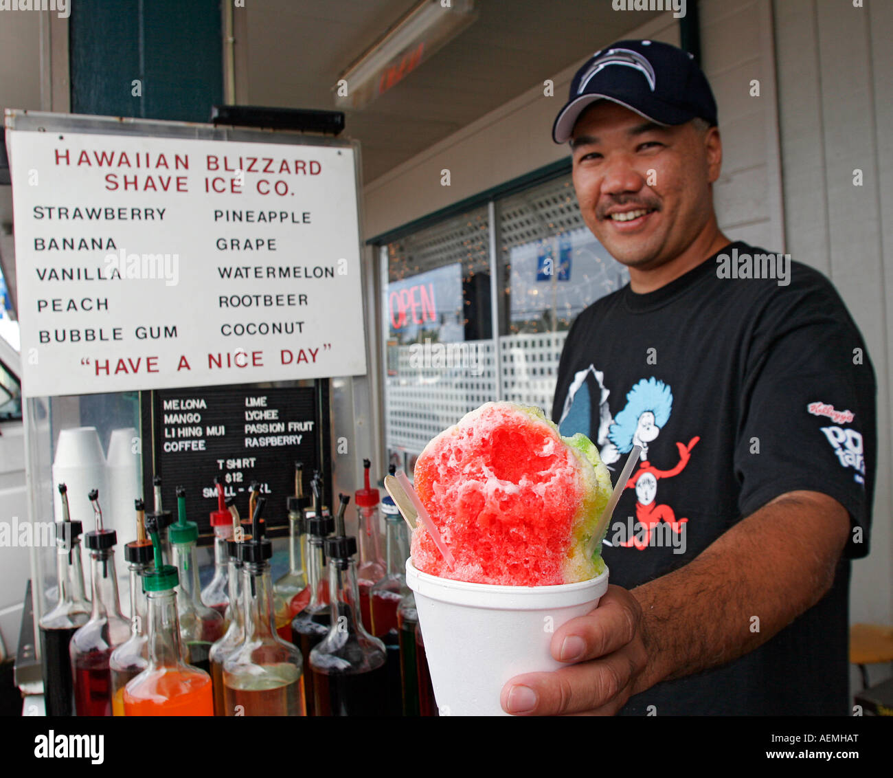 Hawaiian shaved ice syrup
