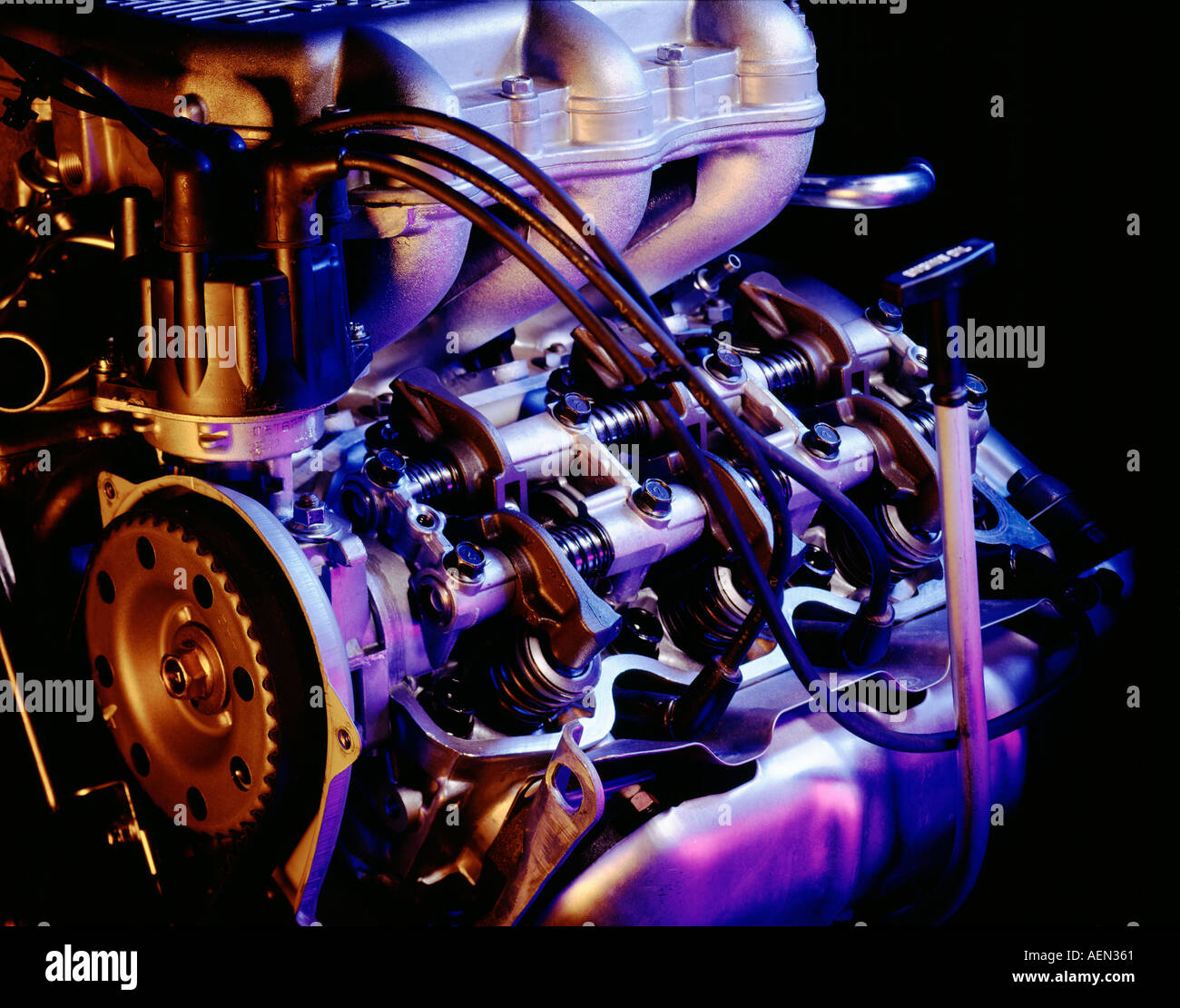 still life of internal combustion engine with color Stock Photo