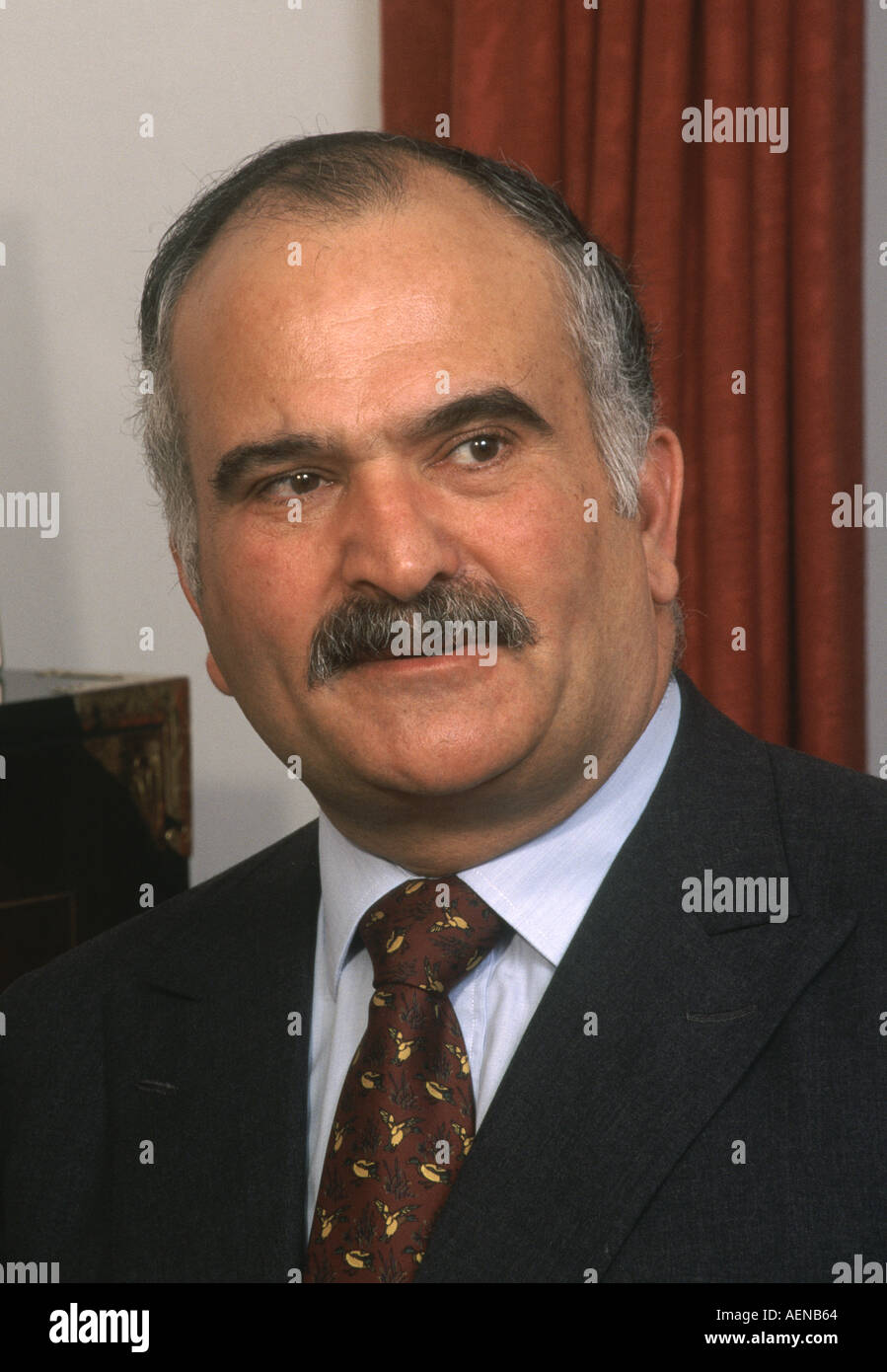 Prince Hassan bin Talal of the Hashemite Kingdom of Jordan Stock Photo