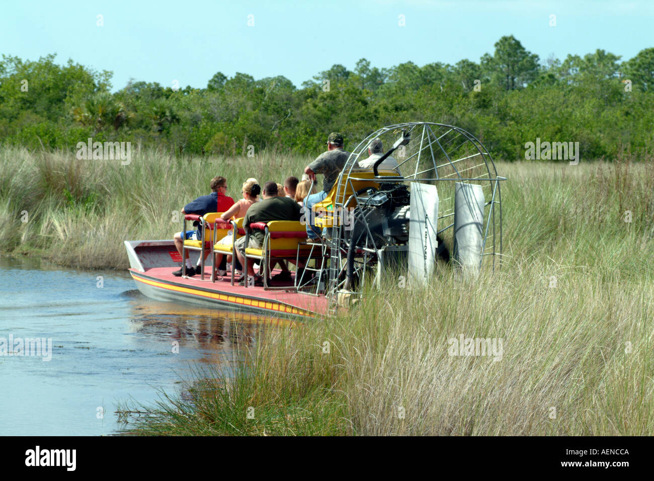 The Everglades Southern Florida fl USA airboat rides Stock