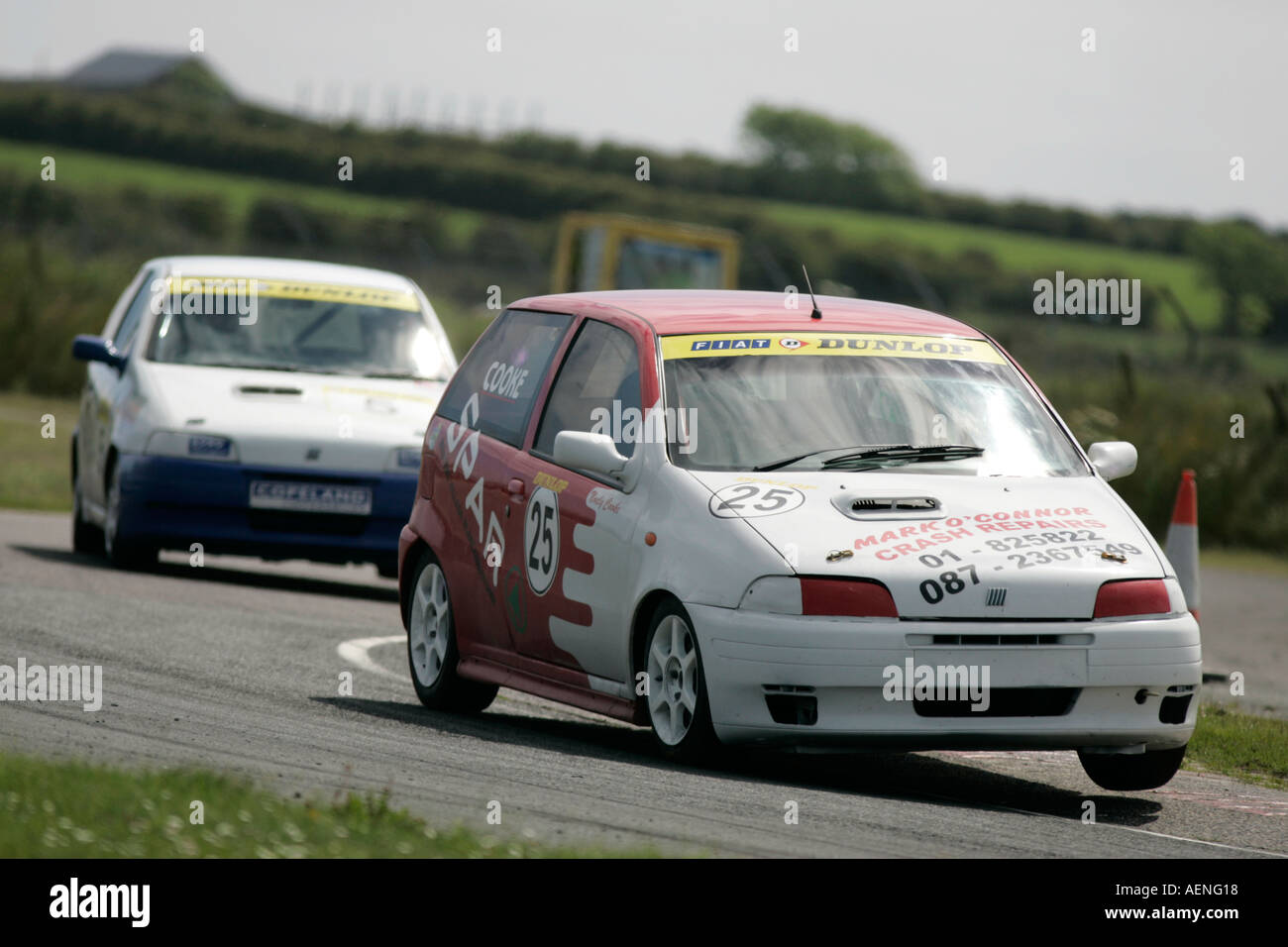 Fiat Uno Stock Photos Images Alamy Manual Free Download Punto Racing At Kirkistown Circuit County Down Northern Ireland Image