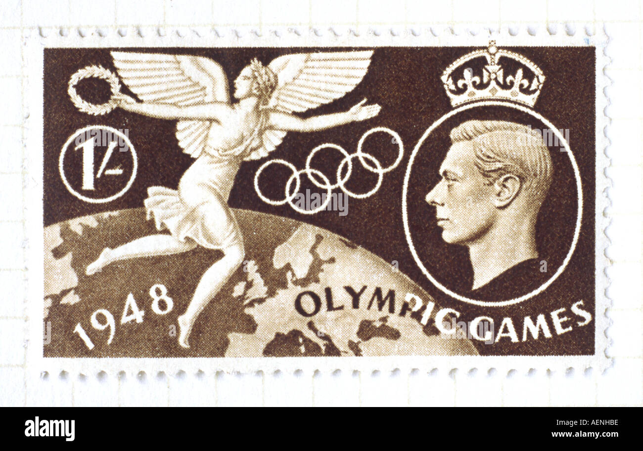 Olympic Games stamp - Stock Image