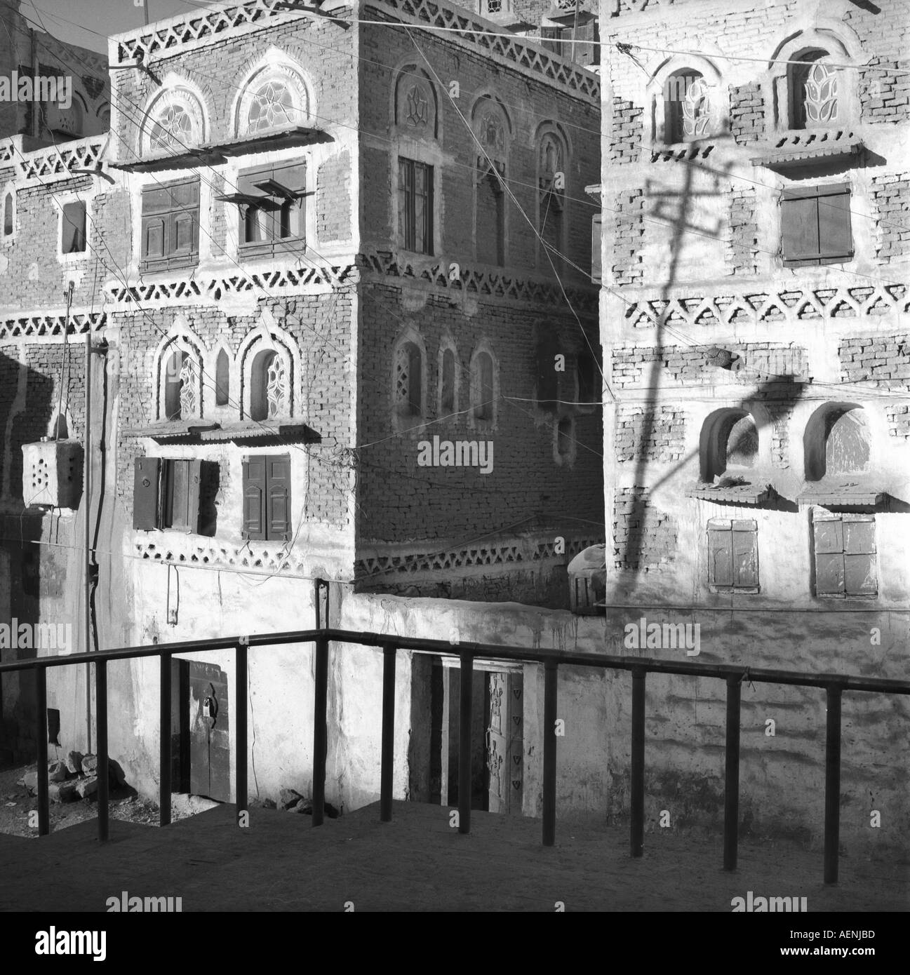Traditional architecture Sanaa Yemen Arab Republic - Stock Image