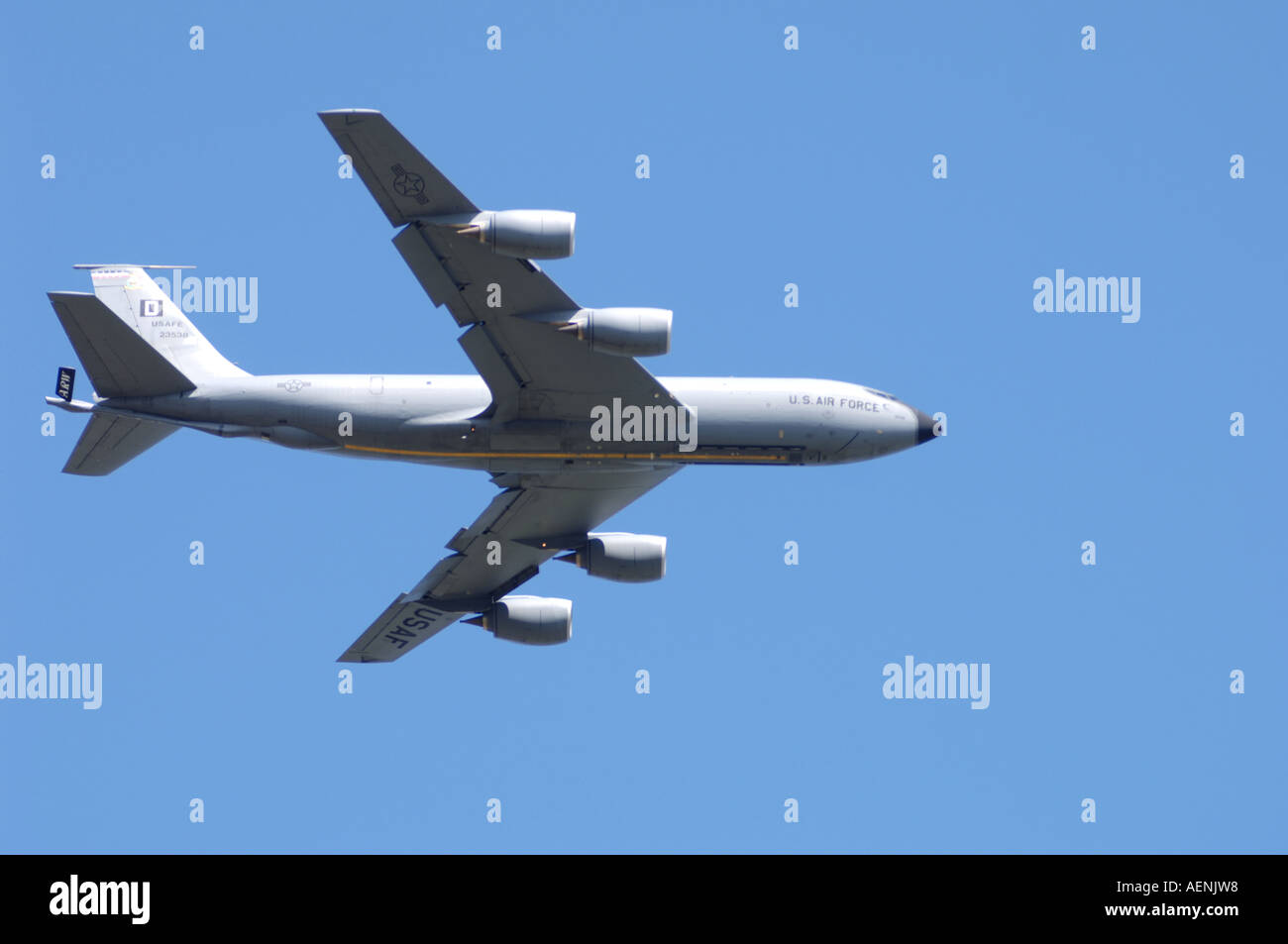 KC-135 Stratotanker of United States Air Force Registration No 23538 'D'.   XAV-528 Stock Photo