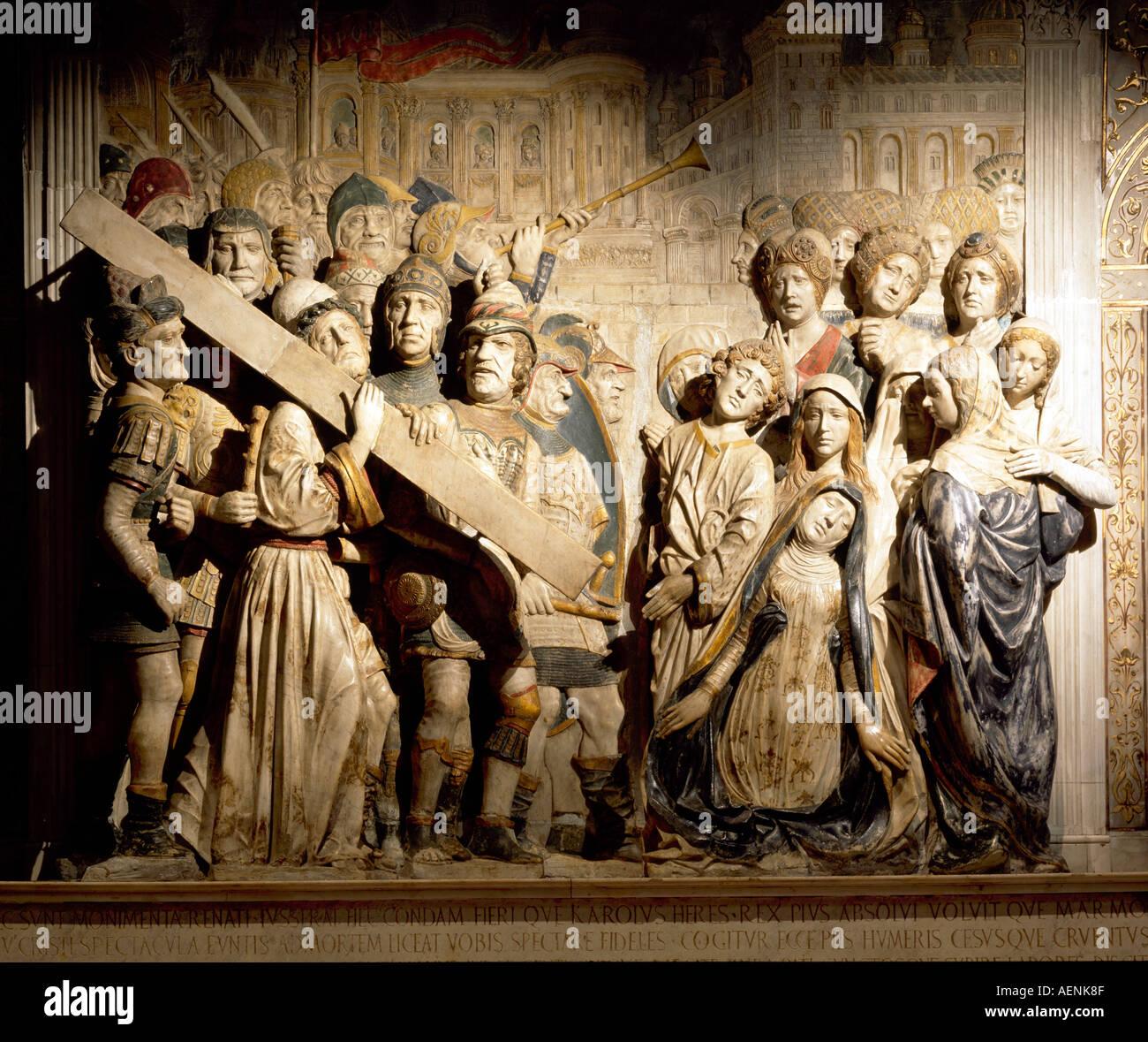 Avignon, St-Didier, Kreuztragungsgruppe von Francesco Laurana, 1478