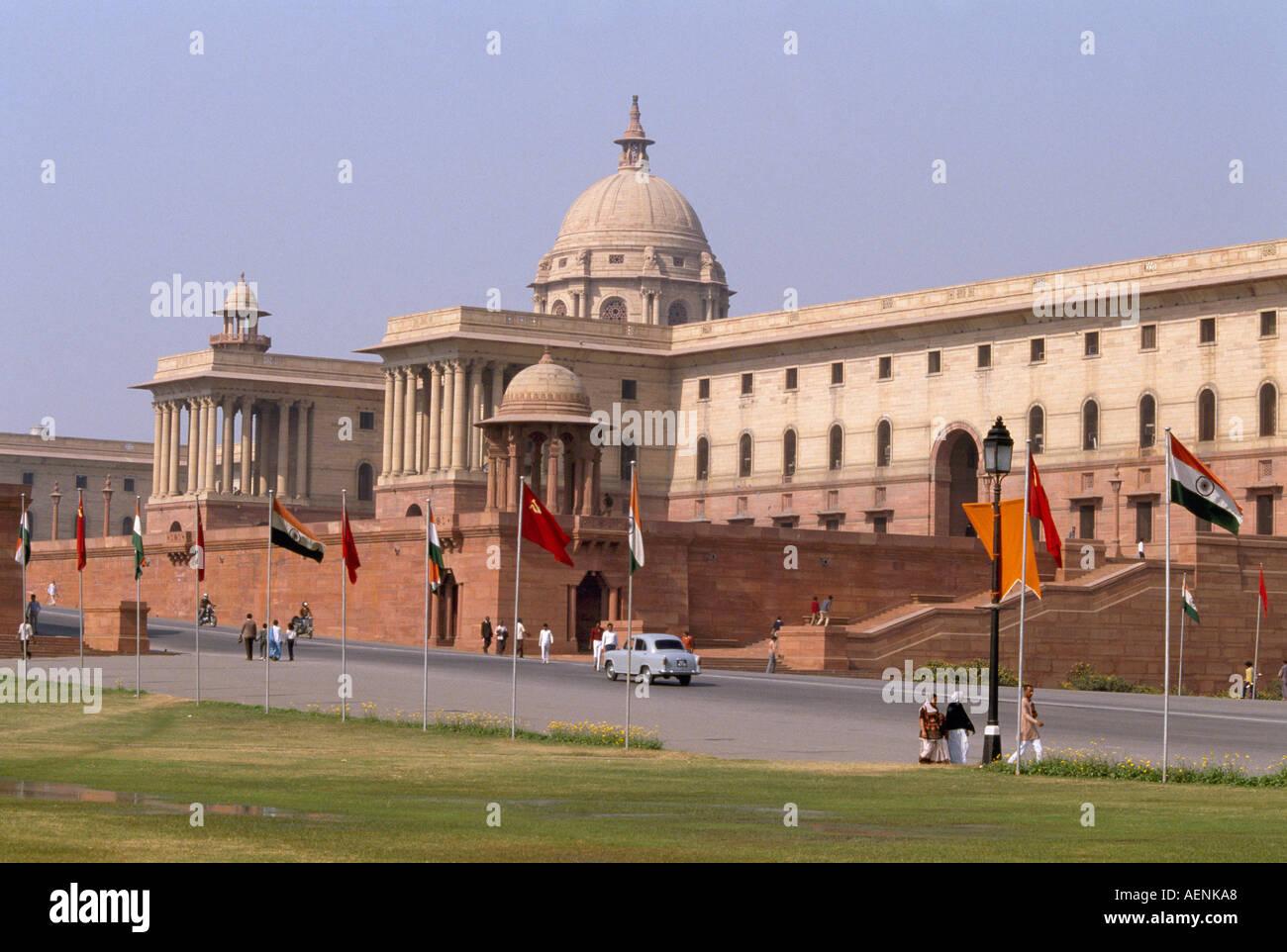 Neu Delhi, Parlament, Sitz des Premierminister Stock Photo