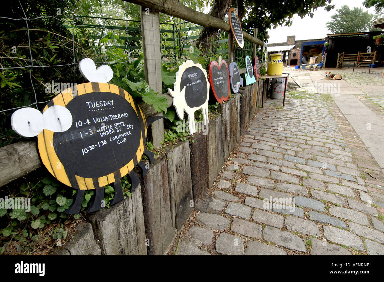 Spitalfields City Farm London UK - Stock Image