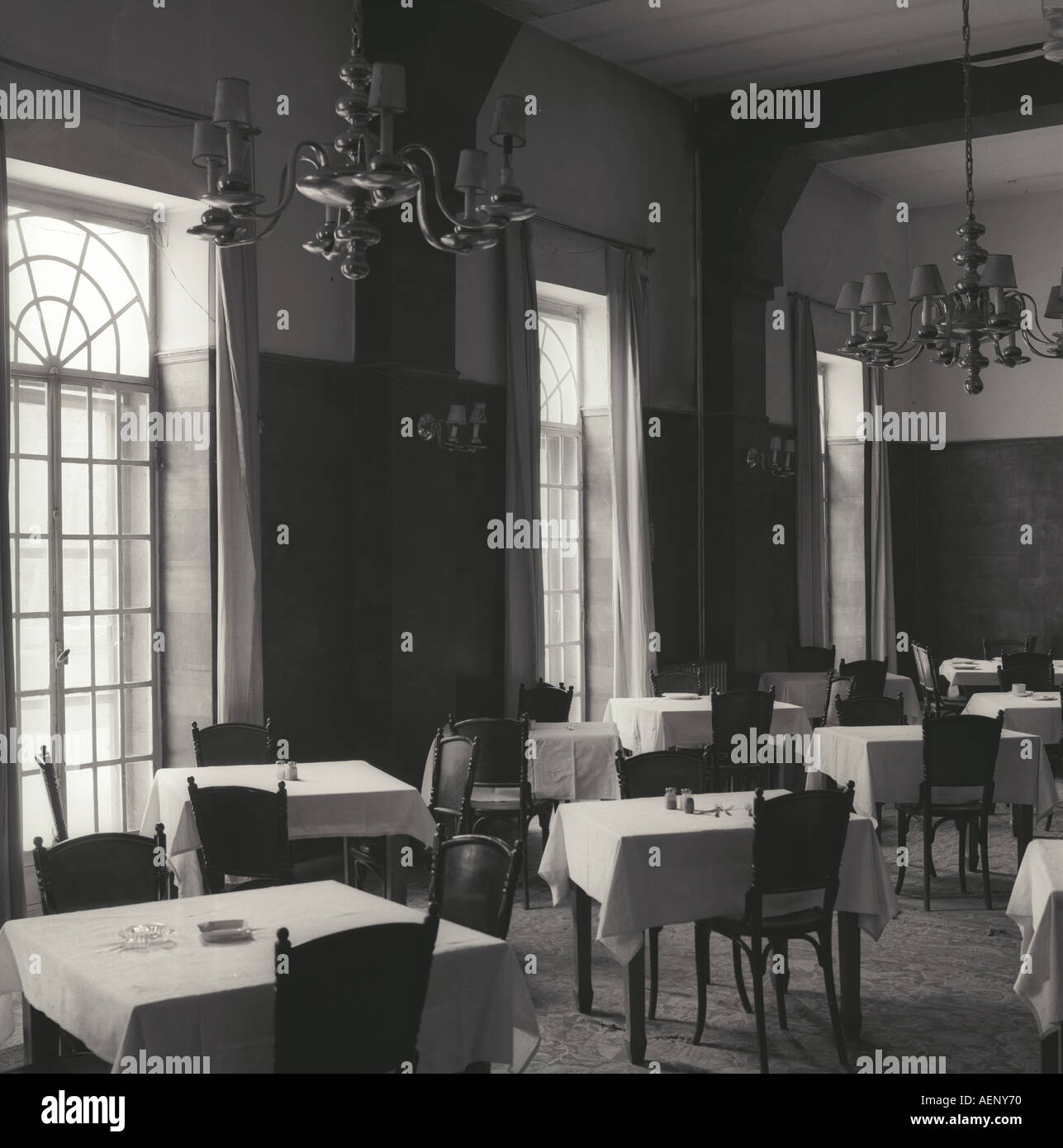 Dining Room Baron Hotel Aleppo Syria - Stock Image