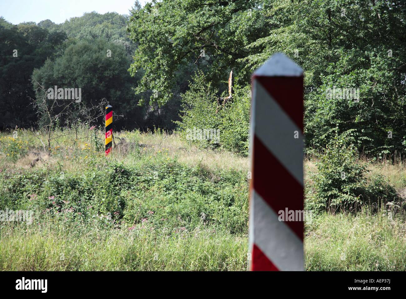 Border Posts, Border Between Germany And Poland At Bad Muskau Leknica