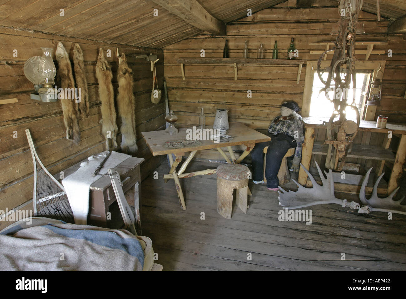 An Original Trappers Log Cabin Built Around 1900 Yukon