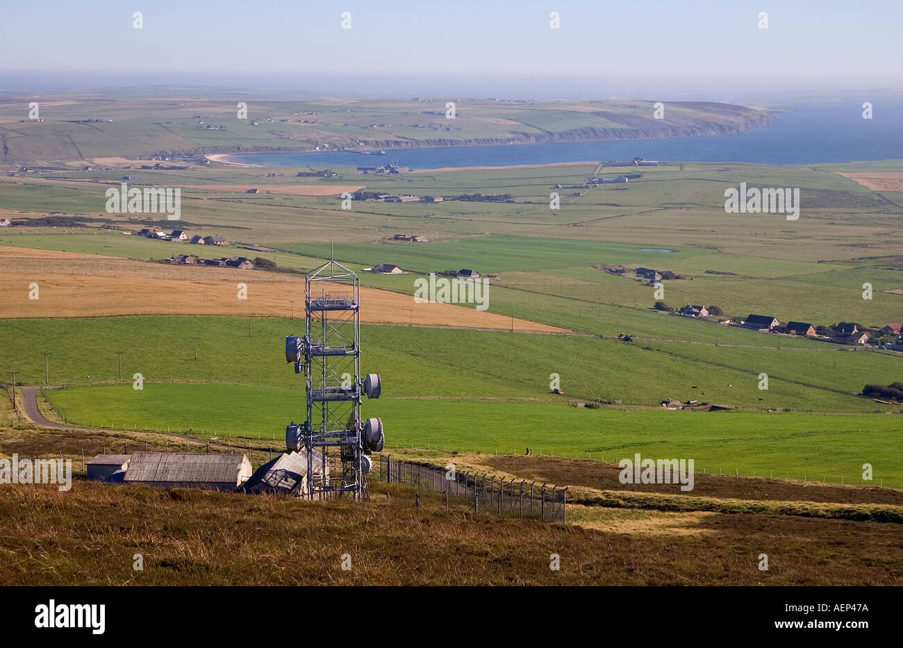 dh Wideforth Hill ST OLA ORKNEY Telecommunications Microwave relay link station mast tower Stock Photo