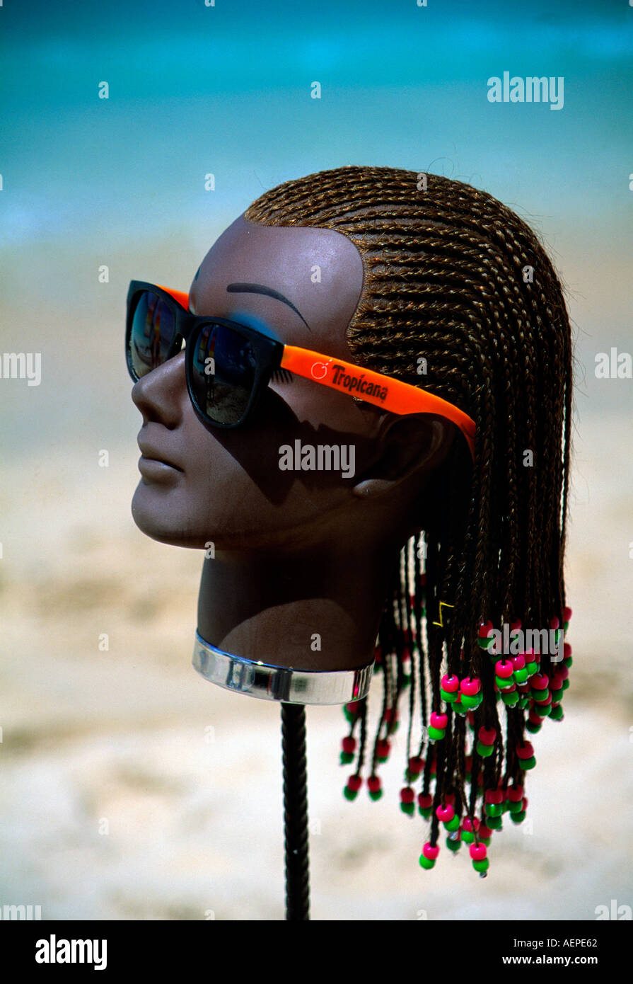 dummy display of sunglass boutique island of barbados archipelago of the lesser antilles caribbean editorial use only - Stock Image