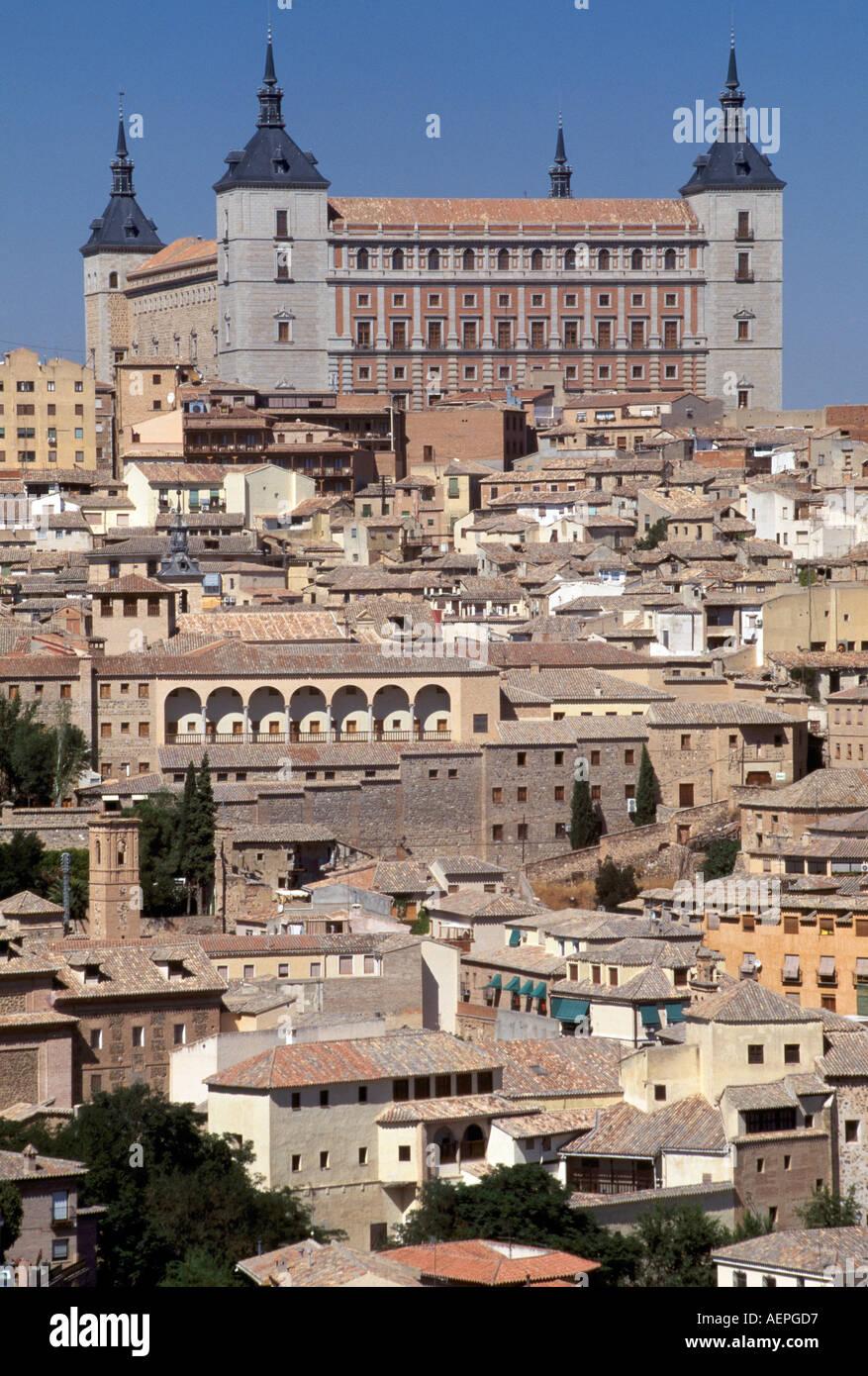 Toledo, Alcazar, umgebaut ab 1537 durch A. de Covarrubias - Stock Image