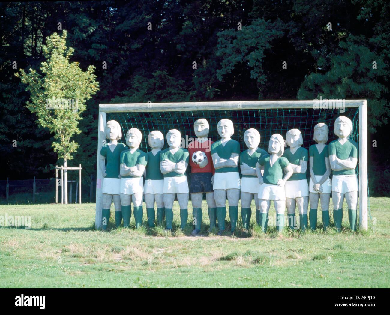 Bernried, Buchheim-Museum, 'Günter Schuhmann: ''Fußballmannschaft BSG Chemie Leipzig'' 1974' - Stock Image