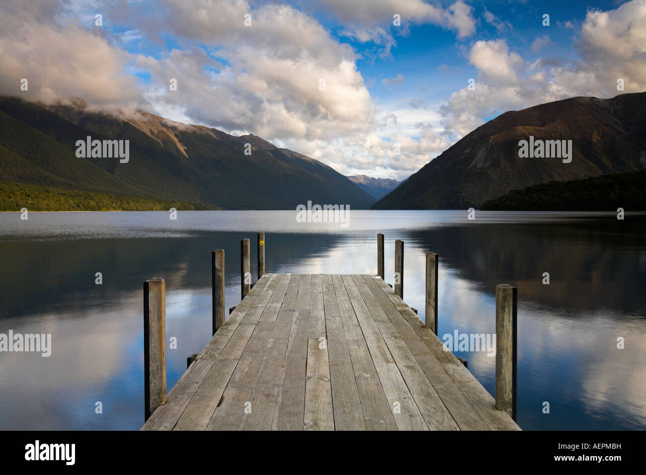 Lake Rotoiti in the Nelson Lakes National Park, New Zealand - Stock Image